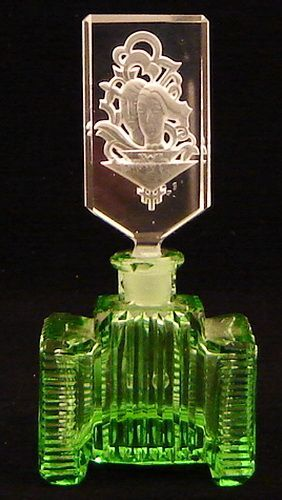 vintage art nouveau perfume bottle