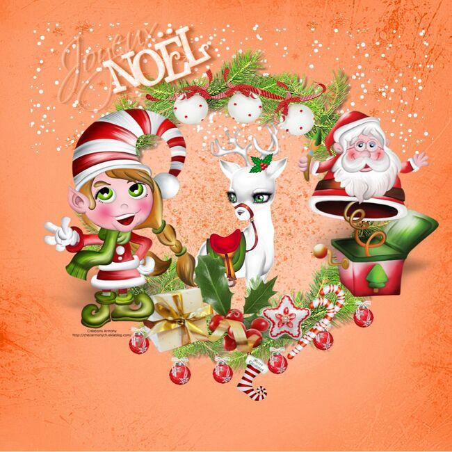 Super Tag de Noël + Cluster + Fond 2