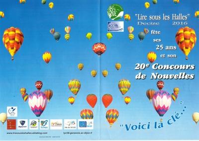 20ème Concours de Nouvelles 2015/2016