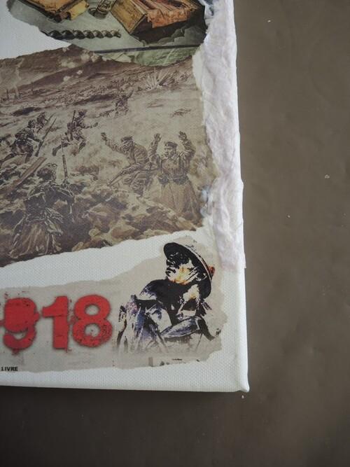 Projet en cours : un collage sur la WWI