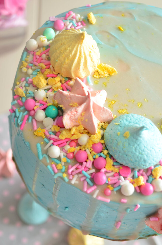 Le Pastel Meringue Layer Cake