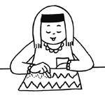Fiche vierge pour travaux écrits en maternelle