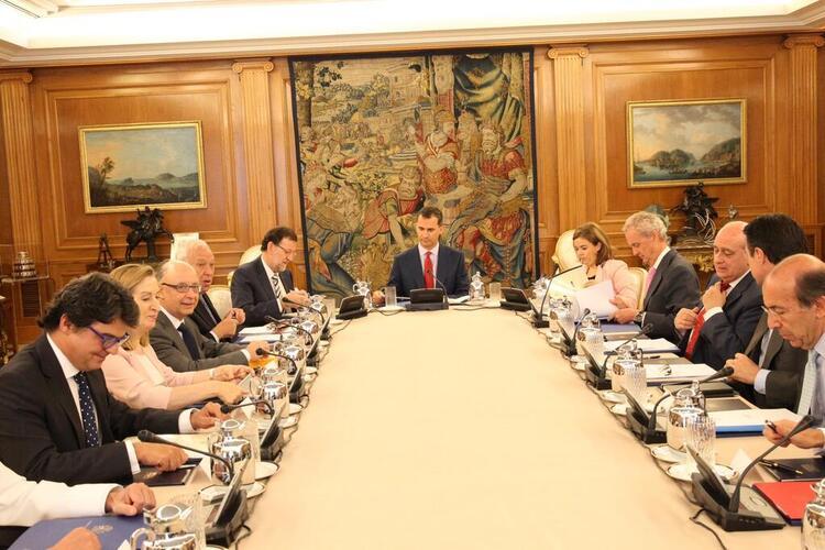 Conseil de sécurité présidé par le roi Felipe