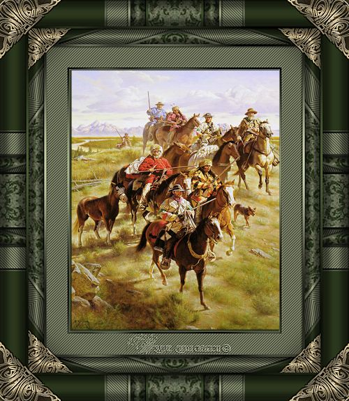 Cadre pionniers cow-boy 9