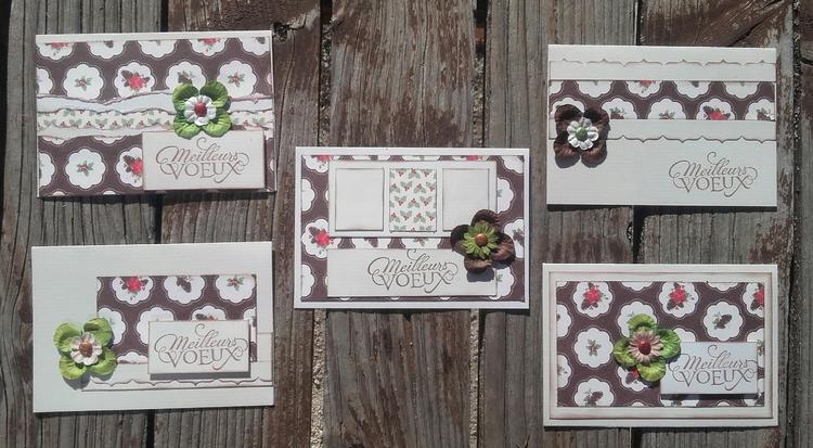Cartes de voeux, 2eme série en partance