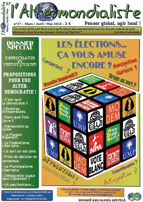 L'Alter : Edito du N°27 - Mars / Avril / Mai 2012.