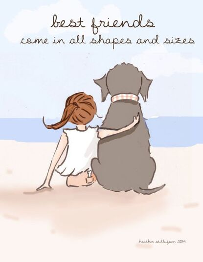 Dog Art  Best Friends Come in All Shapes by RoseHillDesignStudio, $20.00
