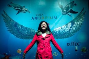Shula Rajaonah aquarium Coex Seoul Corée du Sud