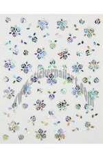 Stickers d'ongles trio roses reflets argent