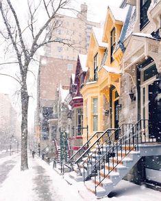 Neige sur la ville ...