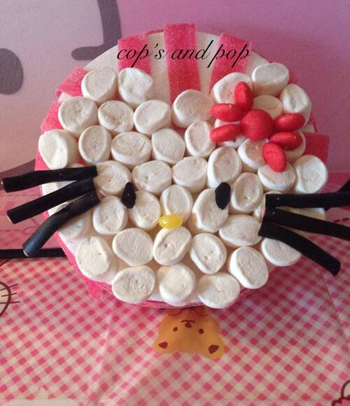♥ Gateau anniversaire Hello Kitty et Kitty en chamallow ♥