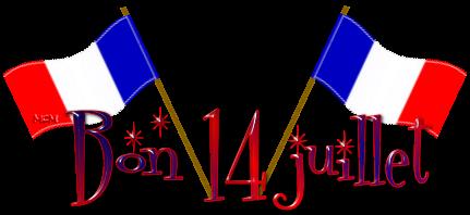 Bonne fête à tous....Bon week-end du 14 Juillet.