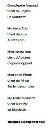 Un poème à la manière de Jacques Charpentreau