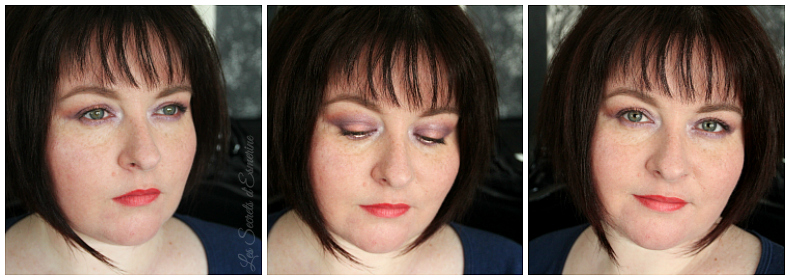 maquillage en orange et violet - lilas & melon