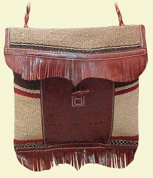 sac cuir, laine et poils de dromadaire