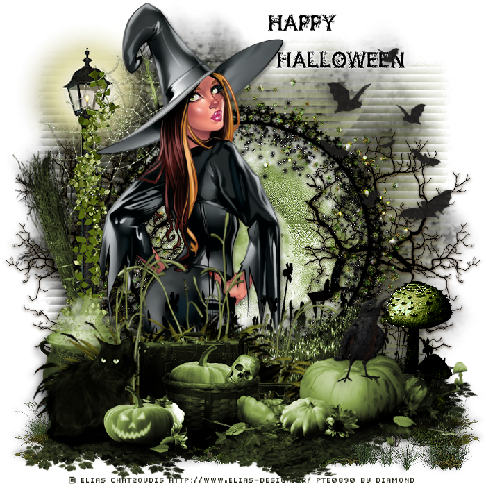 "Tutoriel ""Happy Halloween"" de Chrisjes traduit chez Delire2scrap"