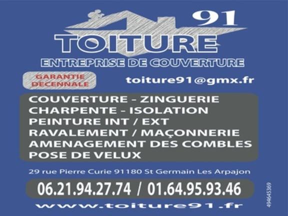 TOITURE91 artisan-couvreur