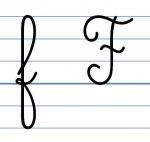 Affichage lettres cursives