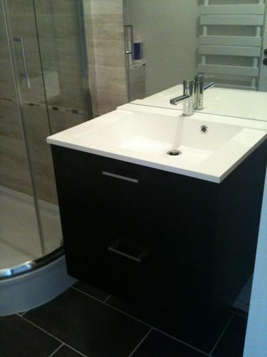 meuble 2 tiroirs modele creatis finition wenge vasque
