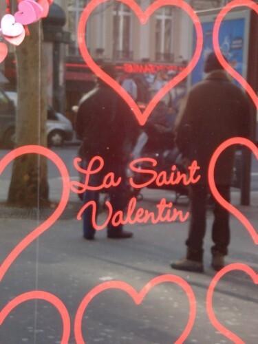 Saint-Valentin coeur vitrine 8705
