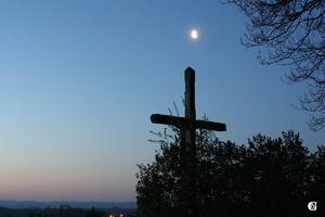 La Lune et la ligne bleue des Vosges
