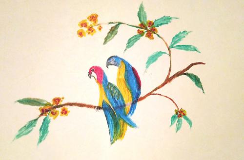 Oiseaux en branche