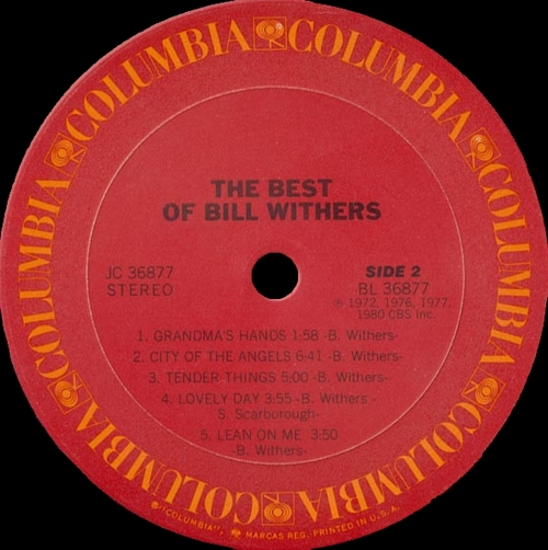 "Bill Withers : Album "" The Best Of Bill Withers "" Columbia Records JC 36877 [ US ]"