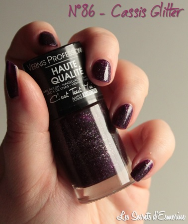 automne, vernis, nail, cassis, glitter, miss europe