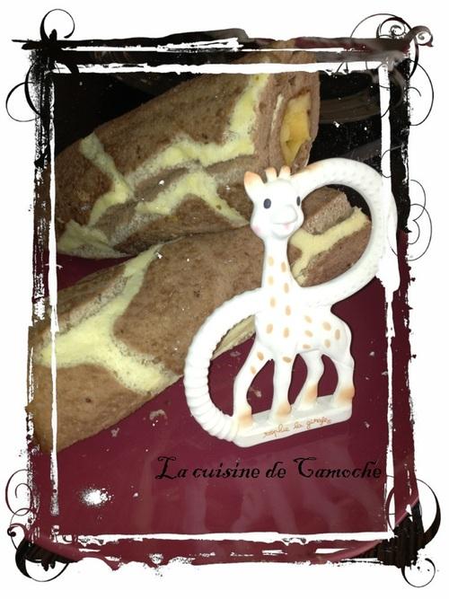 """Biscuit roulé en mode """"girafe"""""""