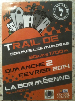 - Trail des Mimosas 02/02/2014