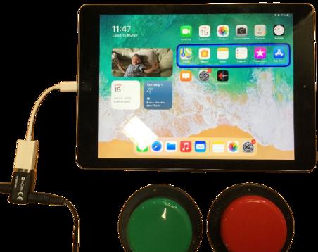 Contrôler un iPad en mode défilement depuis une interface filaire