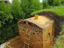 Salle de bain en voûte Catalane
