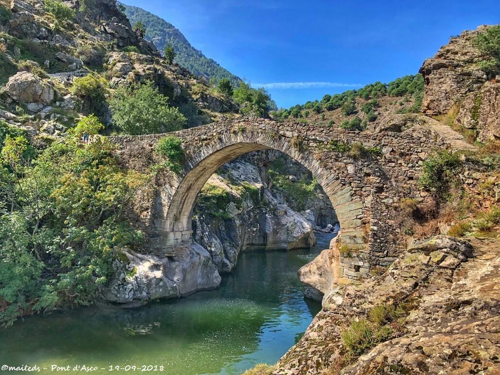 Pont génois d'Asco - Corse