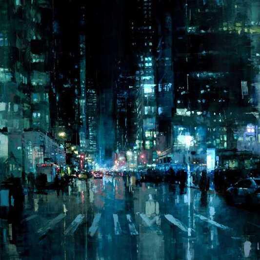 peintures urbaines par Jeremy Mann