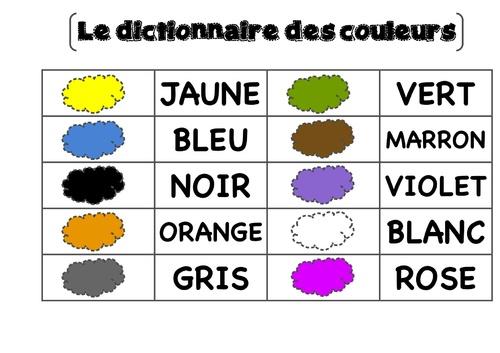 Le jeu des couleurs