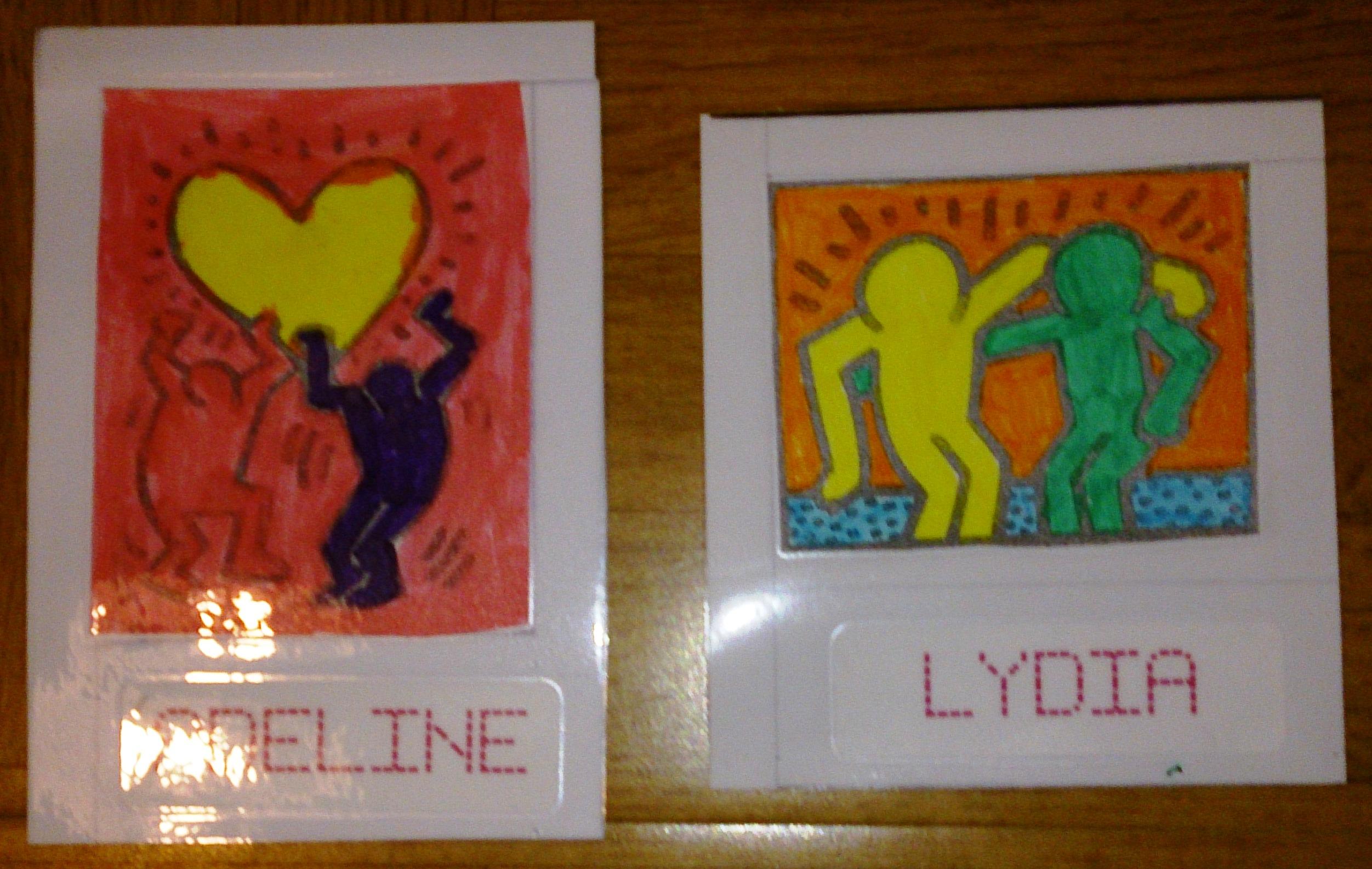 Des Etiquettes A La Maniere De Keith Haring La Classe D Elodie