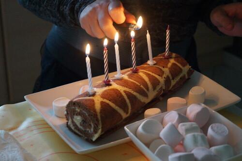 gâteaux roulés girafes