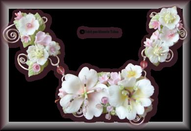 Tube fleur en porcelaine 2968