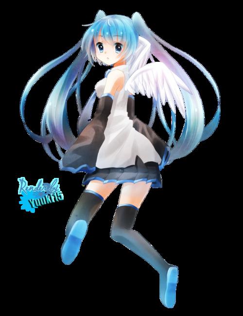 Render Miku Hatsune Vocaloid Ange
