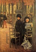 Jacques Without A Dowry Aka Sunday In The Luxembourg... - James Jacques Joseph Tissot - www.jamestissot.org