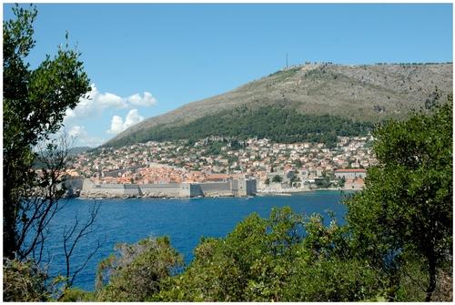 Vers l'île de Lokrum ( Croatie )
