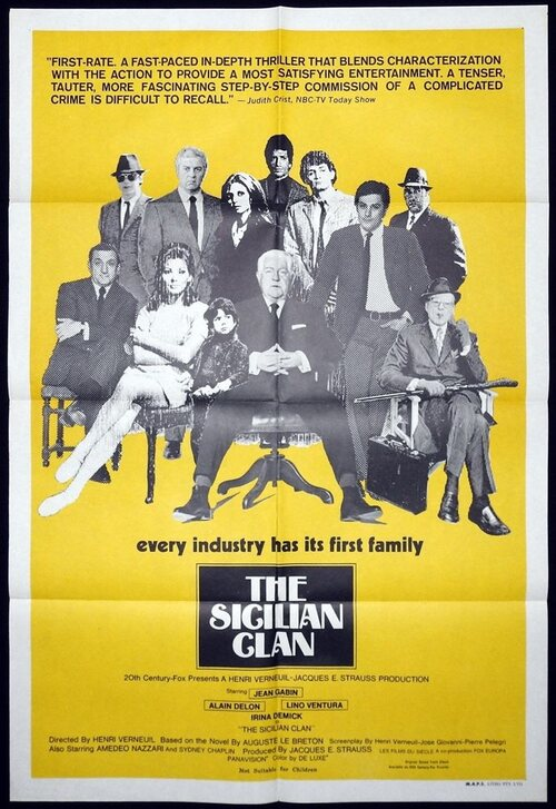 LE CLAN DES SICILIENS BOX OFFICE USA 1970