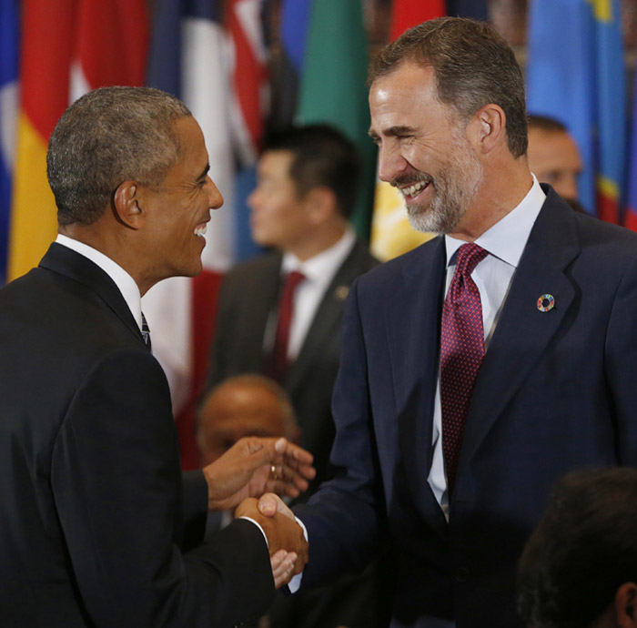FELIPE et OBAMA  aux Nations Unies  - nos 2 beaux gosses