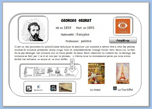 Carte interactive Seurat