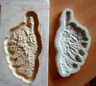 Ile Corse en relief, master et moule - Arts et sculpture: sculpteur mouleur