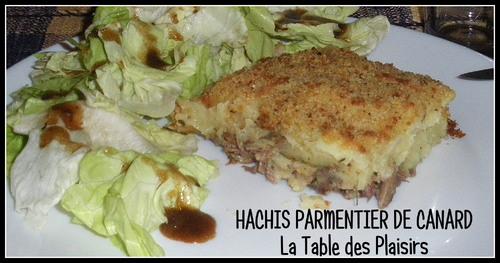 HACHIS PARMENTIER DE CANARD