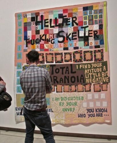 Tracy Emin quilt Hayward Heller