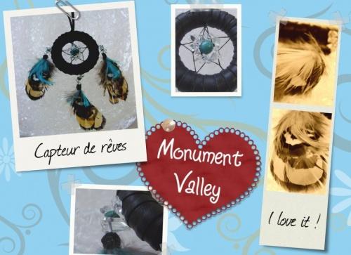 Capteurs de rêves inspirés par Monument Valley