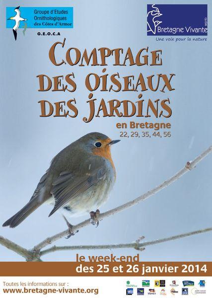 Comptage  oiseaux des jardins 2014