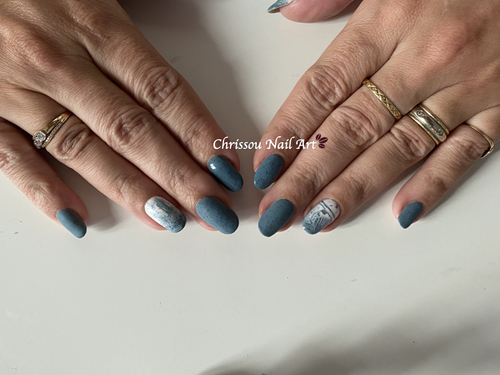 Blue Coral & Lines